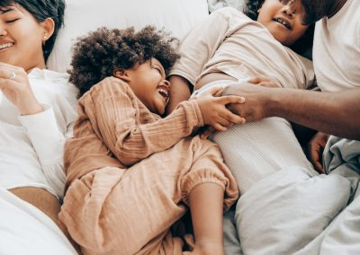 A comfortable family relaxing